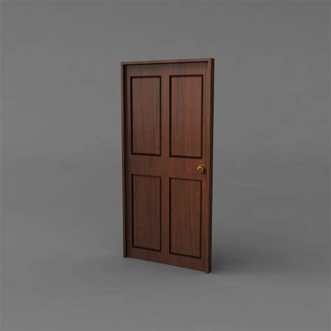 simple door simple classic door 3d model obj ma mb mtl cgtrader com