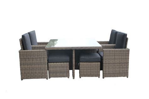 tavolo sedie rattan tavolo da pranzo 4 posti in rattan sintetico da giardino est