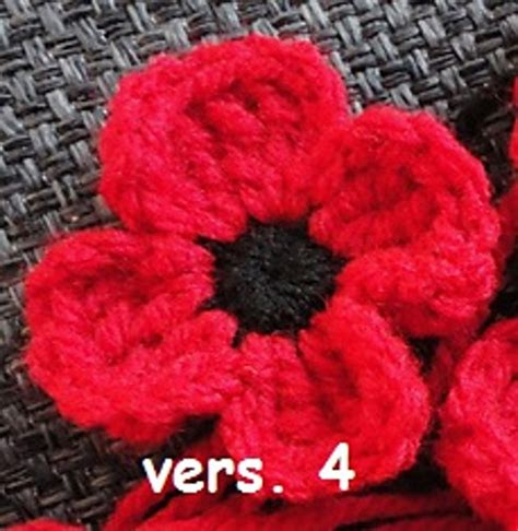 pattern to crochet a poppy free pattern crocheted poppies 5 different versions