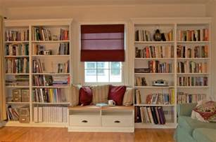 Window Bench And Bookshelves Ikea Hacks Ikea Hackers Built In Bookshelves With Window