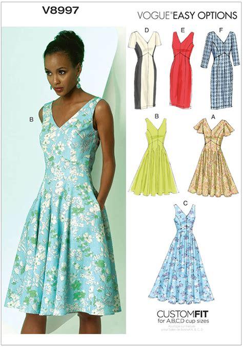 dress pattern vogue uk misses dress vogue pattern 8997 sew essential