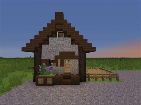 Minecraft Cottages by 7x6 Cottage With Loft Creative Mode Minecraft