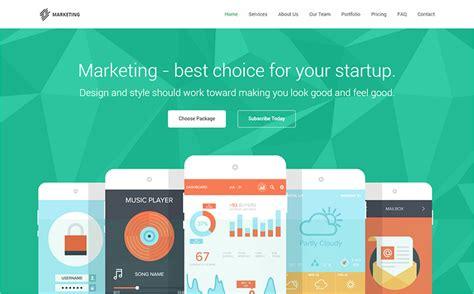 startup landing page templates free premium