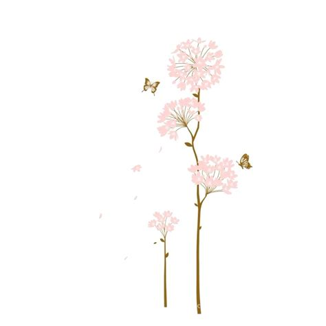 Tree Mural For Wall free shipping home decoration wall sticker light pink
