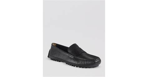 cole haan driving loafers cole haan grant canoe driving loafers in black for