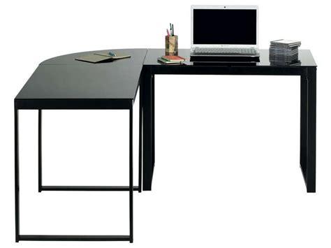 bureau noir conforama bureau d angle blacky coloris noir vente de bureau