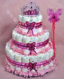 princess baby nappy cake