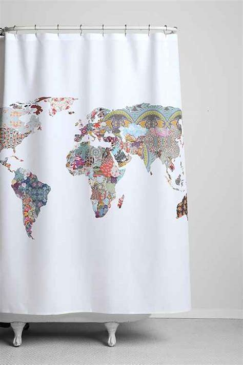 world map shower curtain canada bianca green for deny la told us so shower curtain urban
