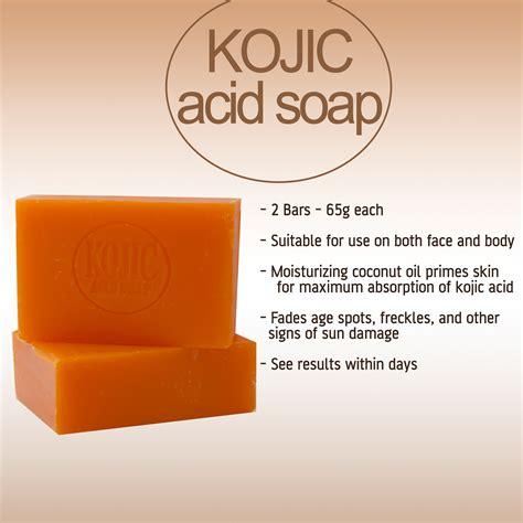 Lixiao Whitening Set 1 kojie san skin lightening kojic acid soap 3 bars 65g