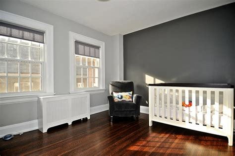 light grey accent wall charcoal accent wall nursery home ideas
