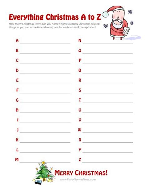 christmas games for groups charades and free printable roundup a and a glue gun