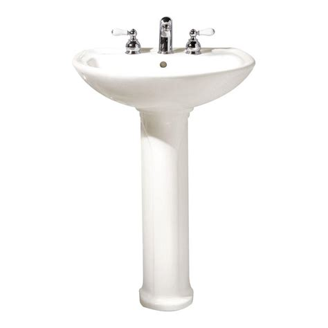 bathroom sink and faucet combo american standard cadet pedestal combo bathroom sink with