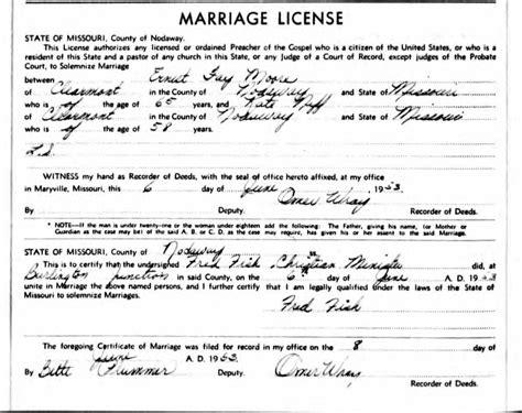 Missouri Marriage Records 1805 2002 Archives Vulgamott Family Site