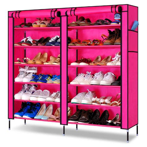 Simple Diy Shoe Rack Storage The Door For Small And Narrow Closet Spaces Ideas Diy Simple Combination Shoe Rack Door Covers Non Woven Fabric Shoe Rack Storage Large