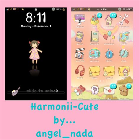 how to make your phone theme cute for android 2017 harmonii cute iphone theme by angel nada on deviantart