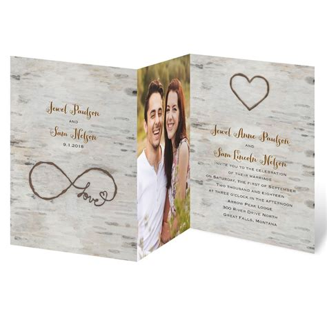 Wedding Invitation With Photo by For Infinity Zfold Invitation Invitations By