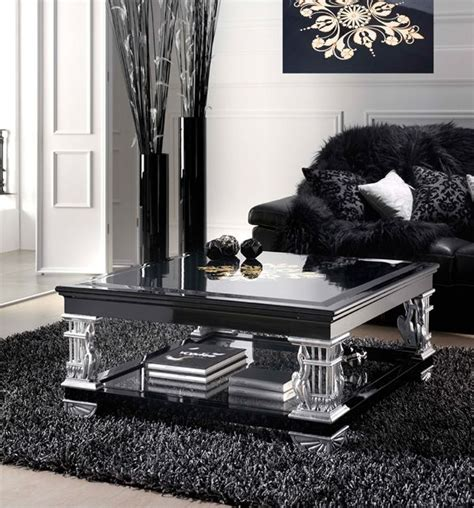 silver living room table black and silver living room peenmedia com
