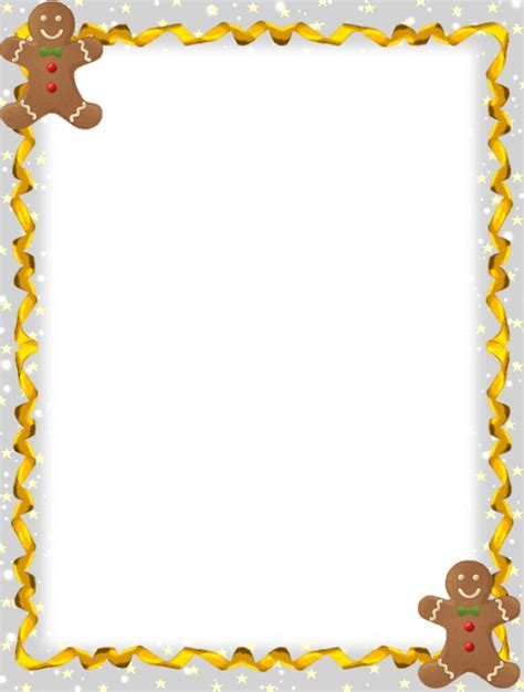 free printable gingerbread man stationary http www gingerbread4christmas com stationery unlined 03