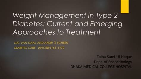 weight management and diabetes weight management in type 2 diabetes 2015