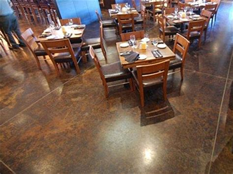 restaurant concrete floor coatings polished concrete overlays