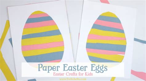 paper easter egg easter crafts  kids twitchetts