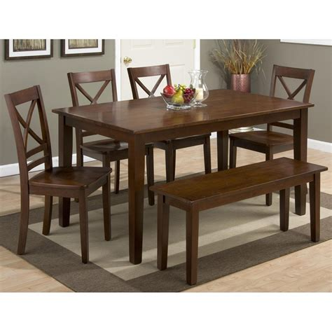 7 piece dining set with bench simplicity rectangle 7 piece dining set with x back side