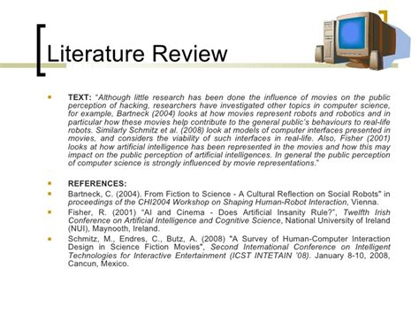 Procter 2004 Literature Review by Doing A Literature Review Part 4