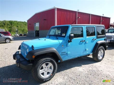 jeep chief blue 2017 jeep wrangler unlimited sport 4x4 in chief blue