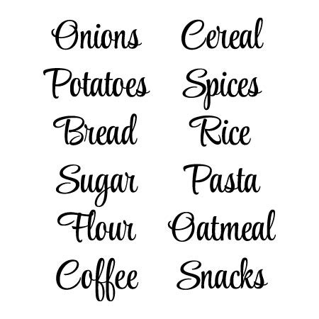 pantry style labels wall quotes decal wallquotescom