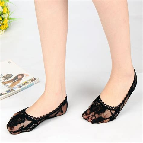 flat shoe socks selling flat lace invisible sock slippers cutout