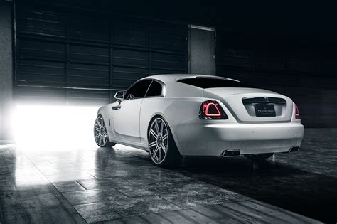 roll royce rollos images rolls royce wraith garage white back view automobile