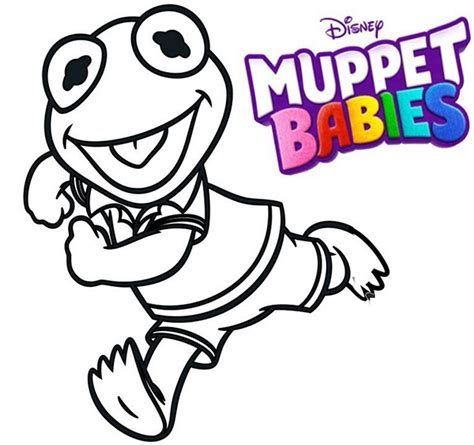 Muppet Babies Coloring Pages by Kermit Muppet Babies Coloring Pages