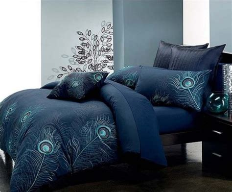 peacock colored bedding peacock bed cover blue color for the home
