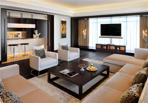 tv in front of window home design ideas pictures remodel penthouse suite living area jw marriott marquis hotel dubai
