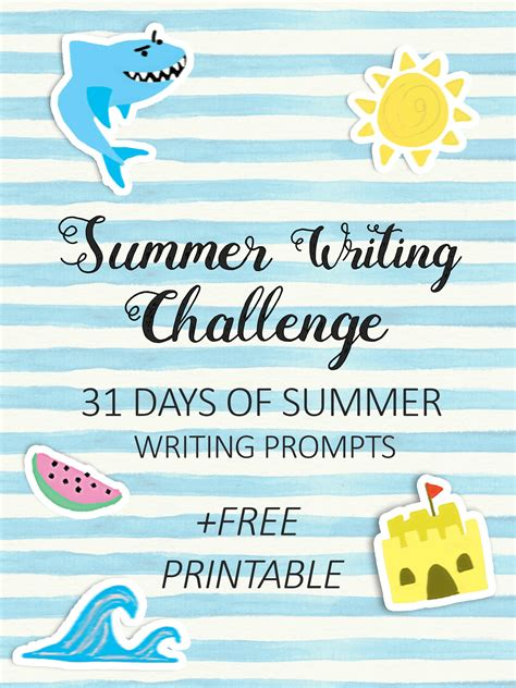summer blog writing away with blog 31 days of summer writing prompts imagine forest