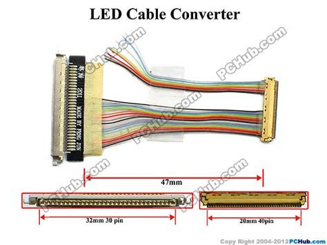 Lcd Led Laptop 11 Pin 30 40 uph oem cable led cable converter 72660 47mm length