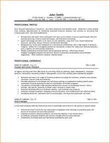 Resume Templates Business 6 Small Business Owner Resume Budget Template Letter