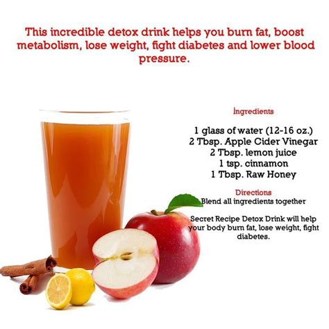 Vinegar Cinnamon Honey Detox by Detox Apple Cider Vinegar Drink Pour Me A Drannnk