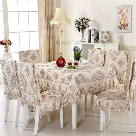 sunnyrain 5 7 piece luxury table cloth set lace tablecloth