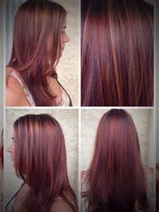 Red brown hair color with caramel highlights 2015 pictures to pin on