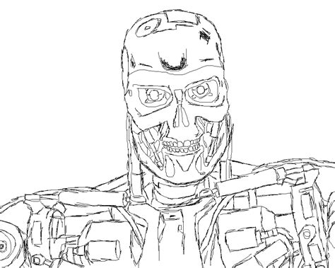 Terminator Coloring Pages terminator sketch by the dalek supreme on deviantart