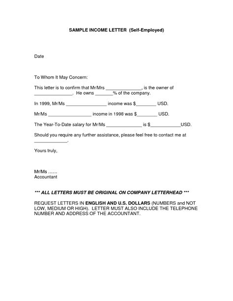 How To Get A Proof Of Employment Letter best photos of printable proof of income letter free