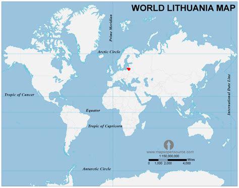 lithuania location on world map free lithuania location map location map of lithuania