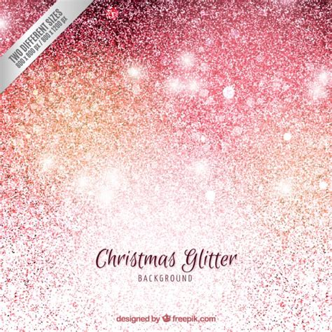 christmas background in glitter style vector free download