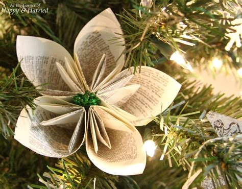 book page ornaments book page flower ornament