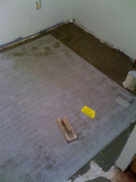 radiant heat rugs installing tile shower and floor labra design build