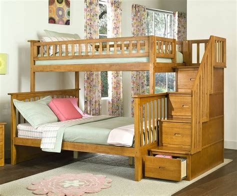 twin over twin bunk beds with storage twin full over full bunk beds with stairs and storage