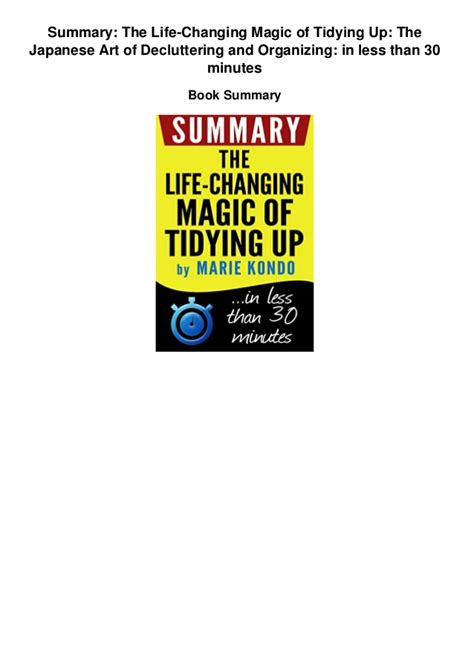 life changing magic of tidying up summary summary the life changing magic of tidying up the japanese