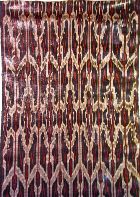 mindanao tribal tattoo t nalak cloth detail showing warp ikat on abaca fiber t