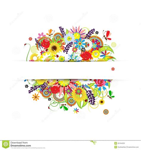 Designer Gift Cards - gift card design with summer floral bouquet stock photos image 25164233